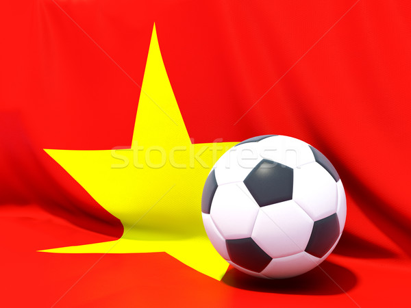 Pavillon Viêt-Nam football équipe pays Photo stock © MikhailMishchenko