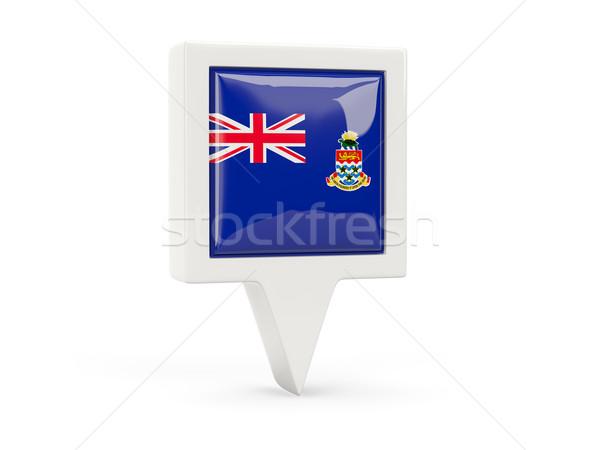 Square flag icon of cayman islands Stock photo © MikhailMishchenko
