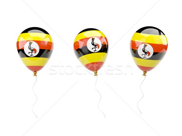 Air balloons with flag of uganda Stock photo © MikhailMishchenko