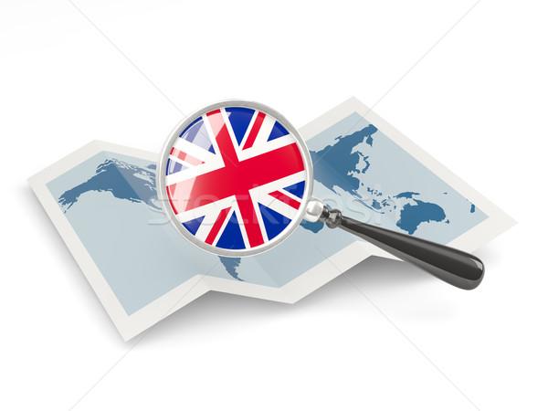 Bandiera Regno Unito mappa viaggio Foto d'archivio © MikhailMishchenko