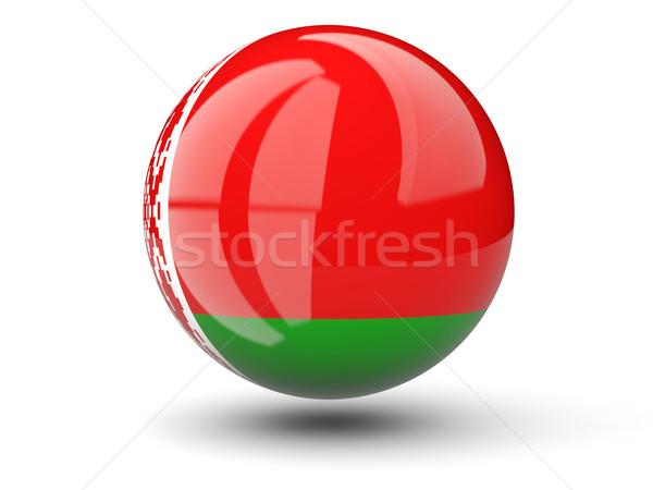 Ikon bayrak Belarus yalıtılmış beyaz seyahat Stok fotoğraf © MikhailMishchenko