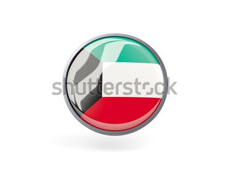 ícone bandeira Kuweit metal quadro viajar Foto stock © MikhailMishchenko