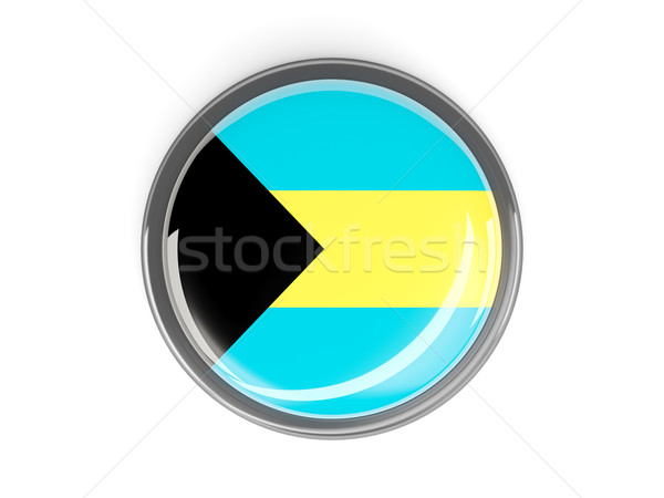 Round button with flag of bahamas Stock photo © MikhailMishchenko