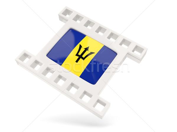 Filme ícone bandeira Barbados isolado branco Foto stock © MikhailMishchenko