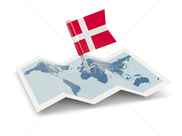 Map with flag of denmark Stock photo © MikhailMishchenko