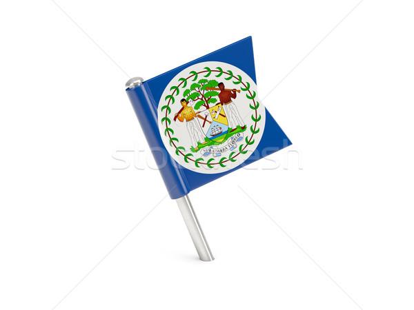 Zászló tő Belize izolált fehér utazás Stock fotó © MikhailMishchenko