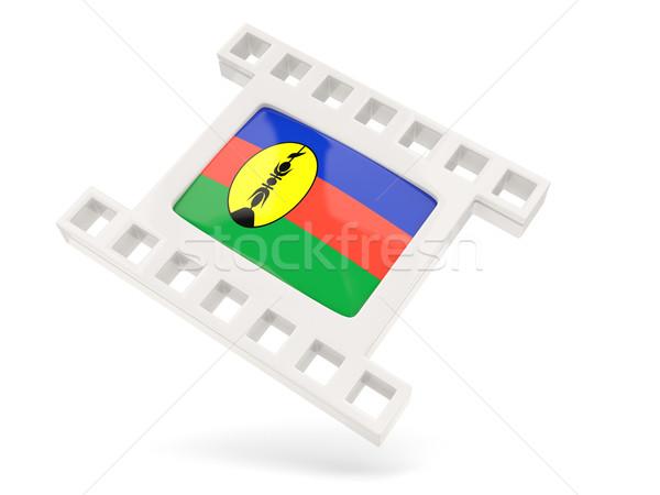 Movie icon with flag of new caledonia Stock photo © MikhailMishchenko