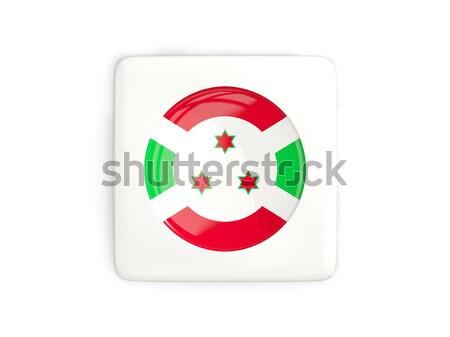 Sticker vlag Boeroendi geïsoleerd witte reizen Stockfoto © MikhailMishchenko