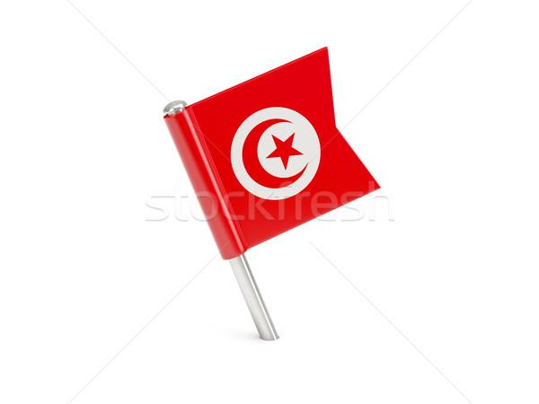 Flag pin of tunisia Stock photo © MikhailMishchenko