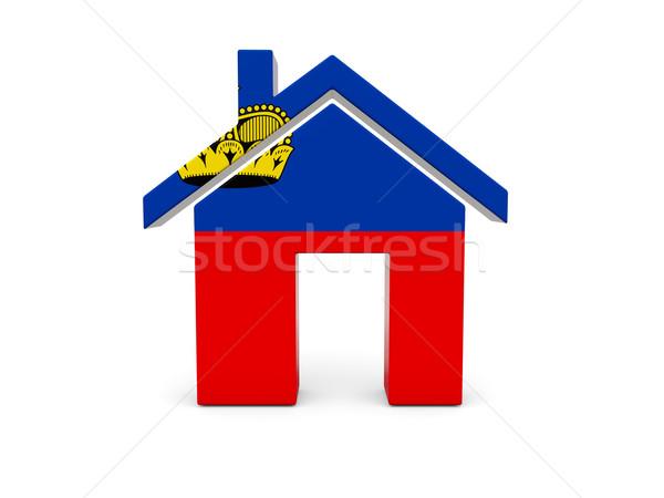 Home with flag of liechtenstein Stock photo © MikhailMishchenko