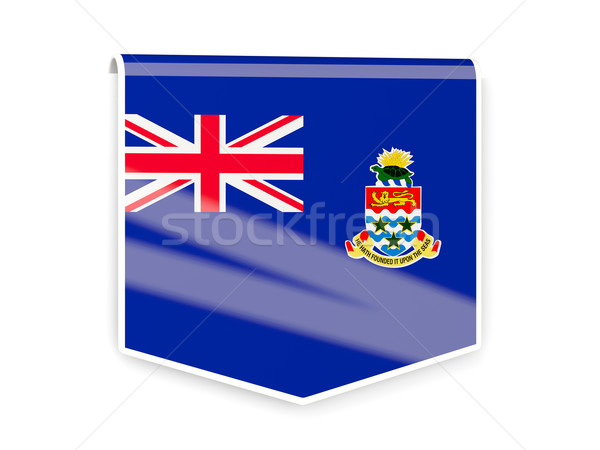 Flag label of cayman islands Stock photo © MikhailMishchenko
