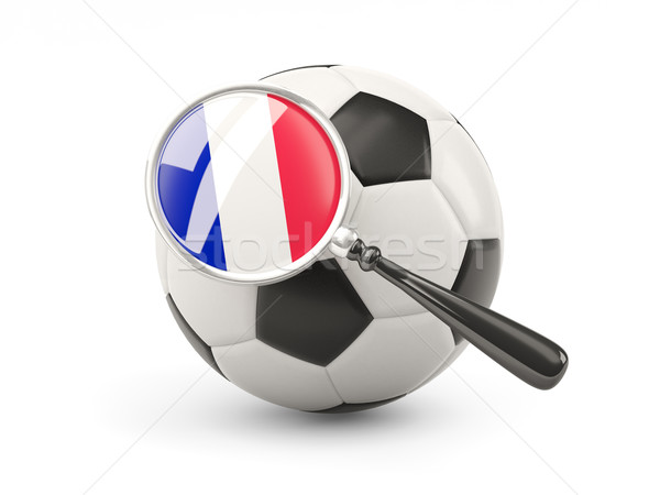 Football with magnified flag of france Stock photo © MikhailMishchenko