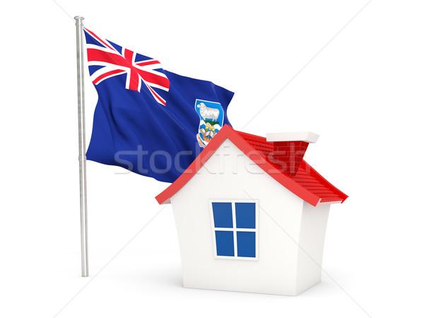 Ház zászló Falkland-szigetek izolált fehér otthon Stock fotó © MikhailMishchenko