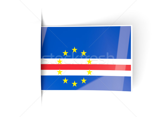Square label with flag of cape verde Stock photo © MikhailMishchenko