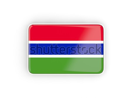 Square icon with flag of gambia Stock photo © MikhailMishchenko
