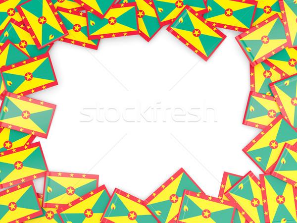Frame vlag Grenada geïsoleerd witte Stockfoto © MikhailMishchenko