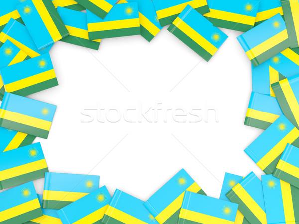 Ramki banderą Rwanda odizolowany biały Zdjęcia stock © MikhailMishchenko