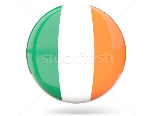 Ikon zászló Írország fényes felirat fehér Stock fotó © MikhailMishchenko
