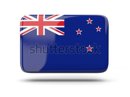 Praça ícone bandeira Nova Zelândia sombra assinar Foto stock © MikhailMishchenko