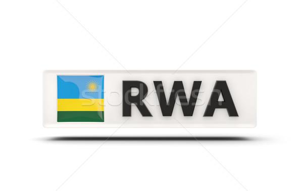 квадратный икона флаг Руанда iso Код Сток-фото © MikhailMishchenko