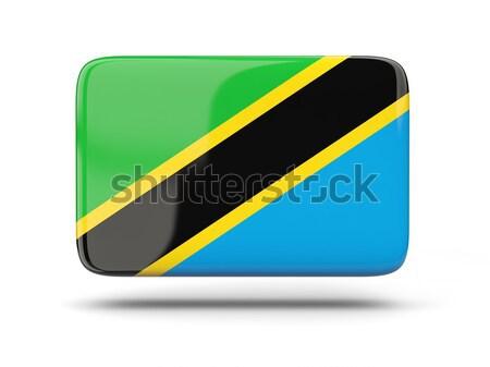 квадратный икона флаг Танзания тень знак Сток-фото © MikhailMishchenko