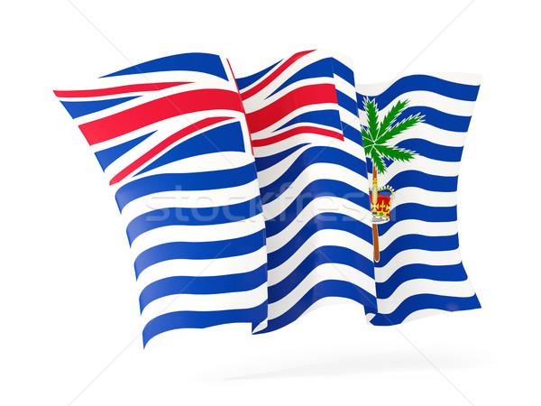 Waving flag of british indian ocean territory. 3D illustration Stock photo © MikhailMishchenko