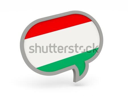 Chat icon vlag Bulgarije geïsoleerd witte Stockfoto © MikhailMishchenko