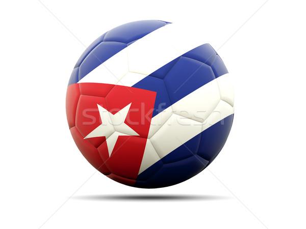 サッカー フラグ キューバ 3次元の図 サッカー スポーツ ストックフォト © MikhailMishchenko