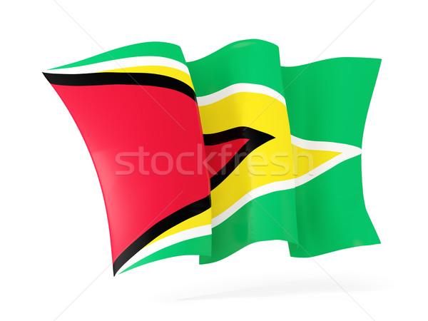 Integet zászló Guyana 3d illusztráció izolált fehér Stock fotó © MikhailMishchenko