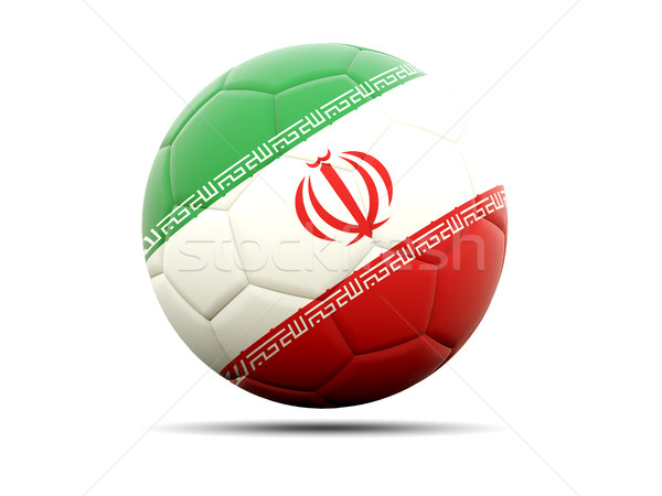Stock photo: Football with flag of iran