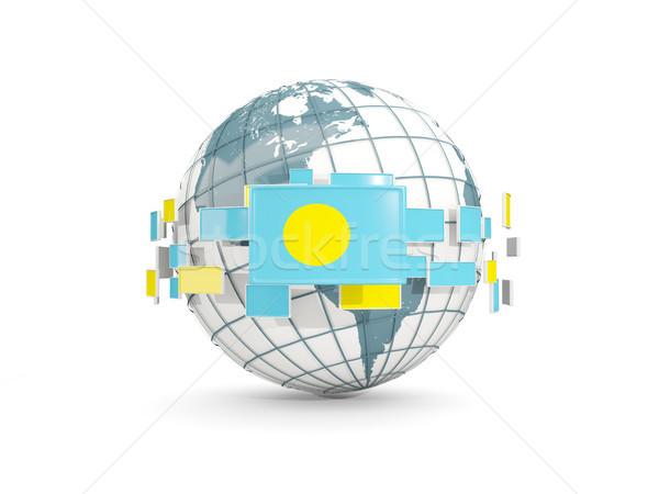 世界中 フラグ 孤立した 白 3次元の図 地図 ストックフォト © MikhailMishchenko