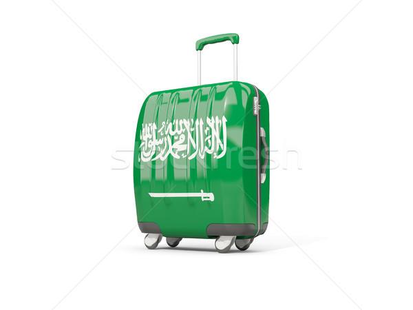Bagaj bayrak suudi bavul yalıtılmış beyaz Stok fotoğraf © MikhailMishchenko