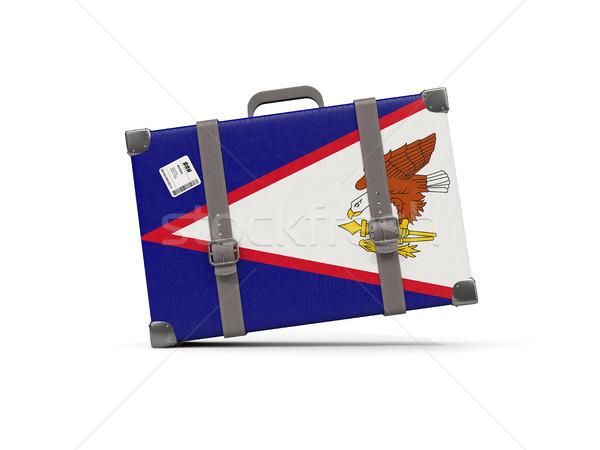 Камера флаг Американское Самоа чемодан изолированный белый Сток-фото © MikhailMishchenko