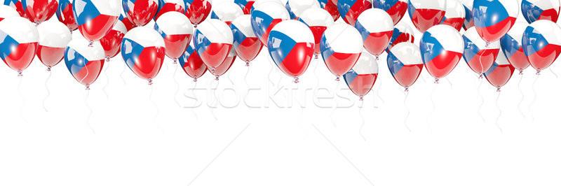 Balloons frame with flag of czech republic Stock photo © MikhailMishchenko
