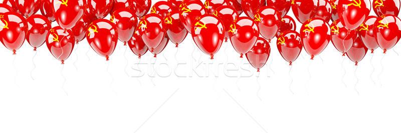 Balonlar çerçeve bayrak sscb yalıtılmış beyaz Stok fotoğraf © MikhailMishchenko