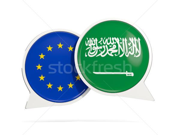 Chat burbujas ue Arabia Saudita aislado blanco Foto stock © MikhailMishchenko