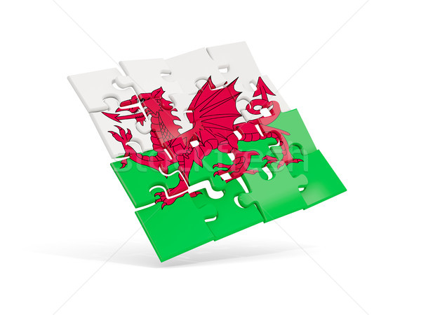 Puzzle flag of wales isolated on white Stock photo © MikhailMishchenko
