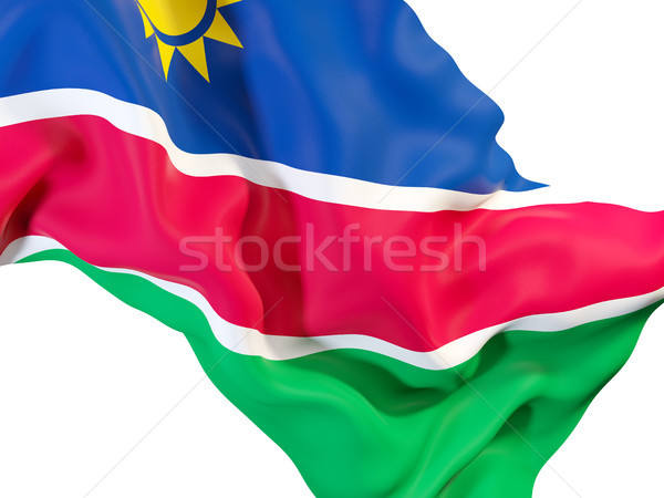 Bayrak Namibya 3d illustration seyahat Stok fotoğraf © MikhailMishchenko