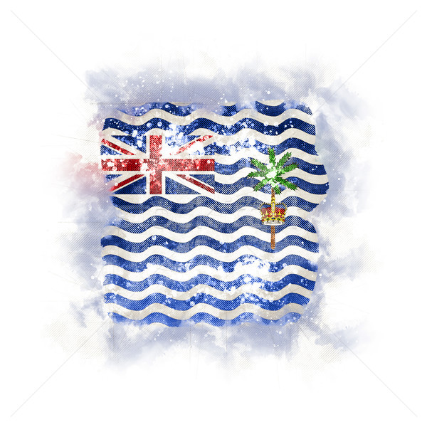 Square grunge flag of british indian ocean territory Stock photo © MikhailMishchenko