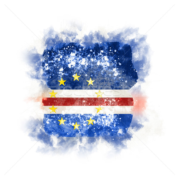 Square grunge flag of cape verde Stock photo © MikhailMishchenko