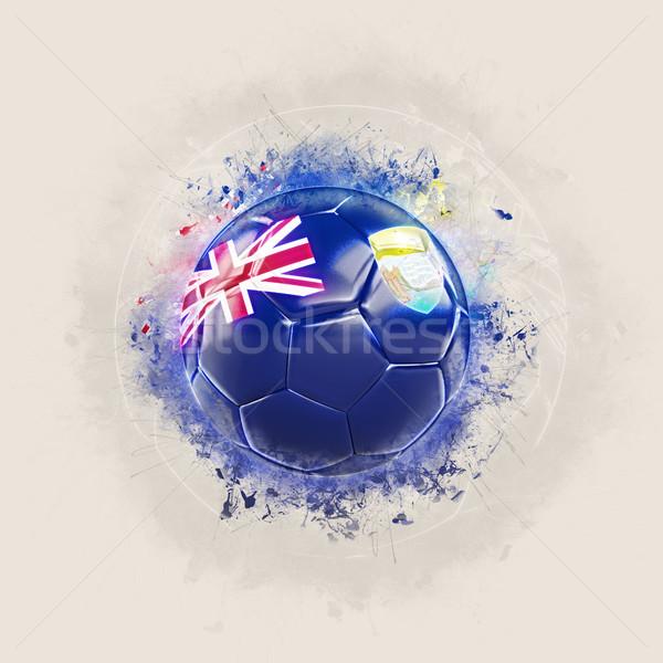 Grunge calcio bandiera santo illustrazione 3d mondo Foto d'archivio © MikhailMishchenko