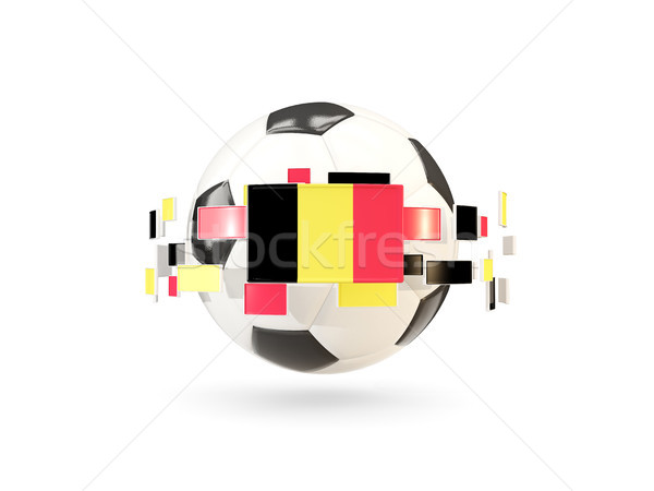 Soccer ball with line of flags. Flag of belgium Stock photo © MikhailMishchenko