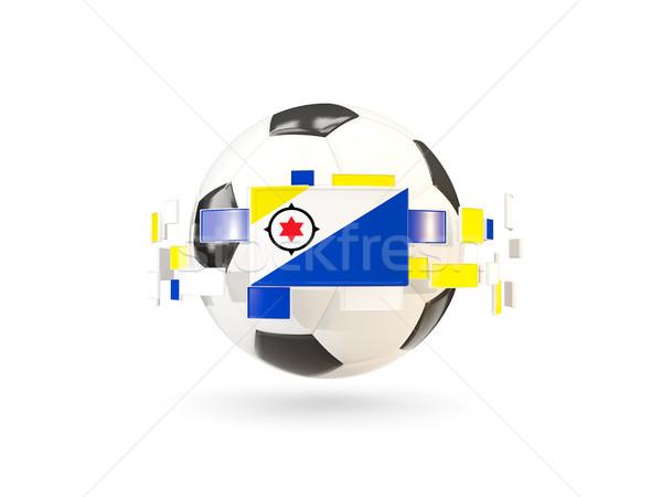 Soccer ball with line of flags. Flag of bonaire Stock photo © MikhailMishchenko