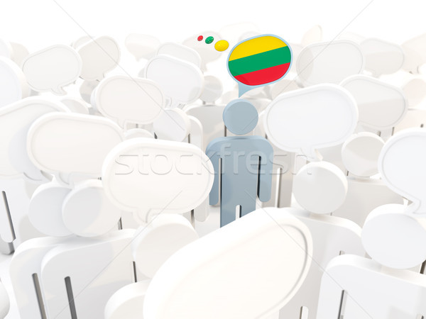 Homme pavillon Lituanie foule 3d illustration réunion Photo stock © MikhailMishchenko