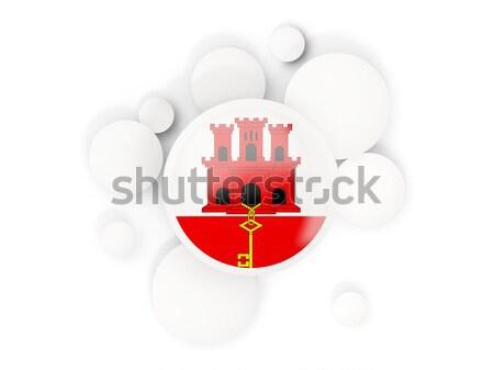 Człowiek banderą Sri Lanka tłum 3d ilustracji podpisania Zdjęcia stock © MikhailMishchenko