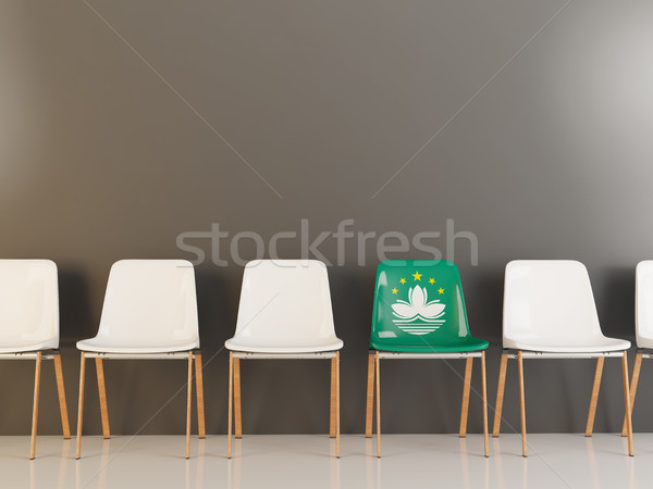 Chair with flag of macao Stock photo © MikhailMishchenko