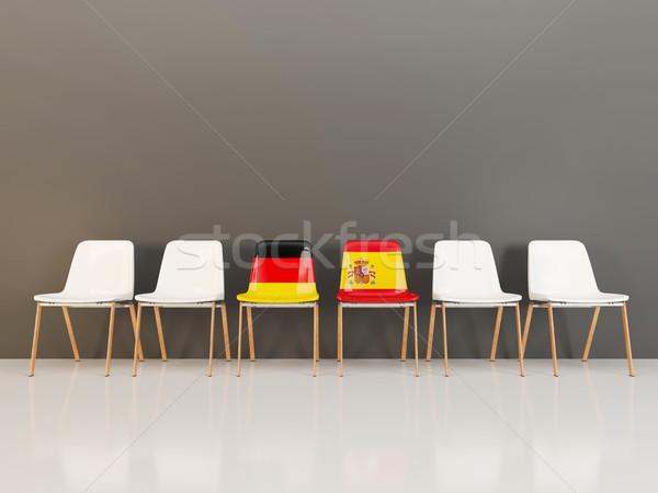 チェア フラグ ドイツ スペイン 3次元の図 ストックフォト © MikhailMishchenko