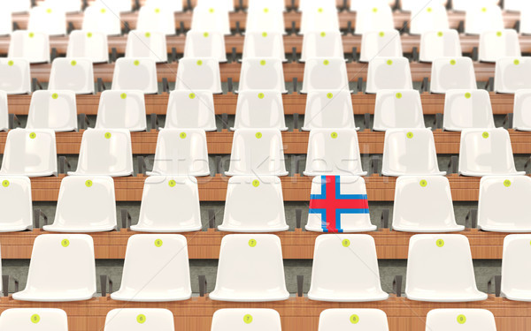 Stadium seat with flag of faroe islands Stock photo © MikhailMishchenko
