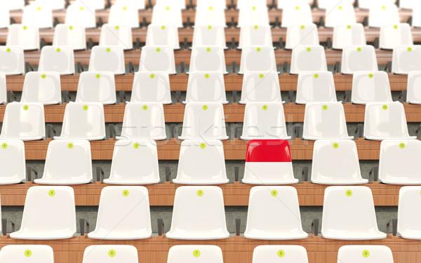 Stadium seat with flag of indonesia Stock photo © MikhailMishchenko