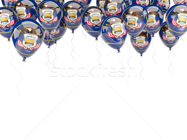 Balloons frame with flag of utah. United states local flags Stock photo © MikhailMishchenko